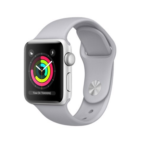 Apple Watch Series 3 GPS- 38mm MQKU2 Silver Aluminum Case with Fog Sport Band