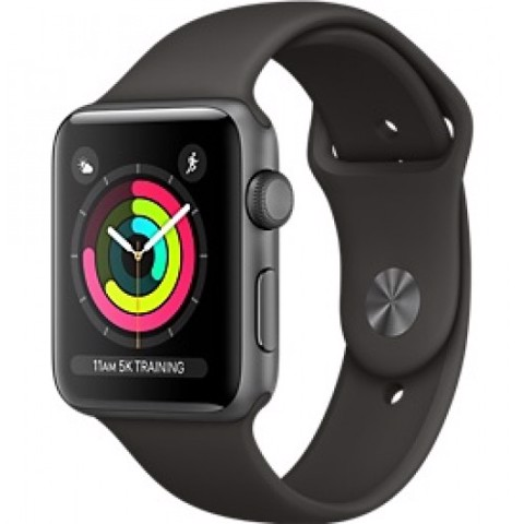Apple Watch Series 3 GPS- 42mm MQL12 Space Gray Aluminum Case with Black Sport Band