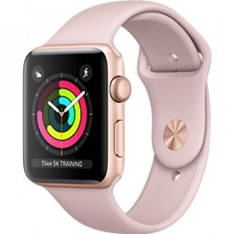 Apple Watch Series 3 GPS- 38mm MQKW2 Gold Aluminum Case with Pink Sand Sport Band