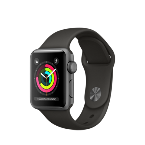 Apple Watch Series 3 GPS- 38mm MR352 Space Gray Aluminum Case with Black Sport Band