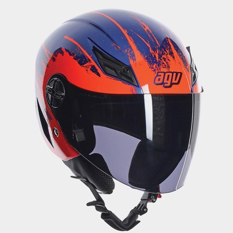 AGV NÓN 3/4 BLADE TOO FAST BLUE/ORANGE