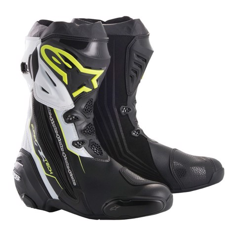 ALPINESTARS SUPERTECH R BLACK/WHITE/RED - 44