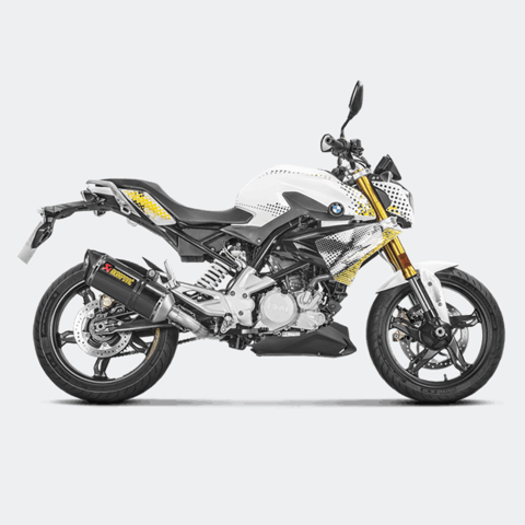 AKRAPOVIC BỘ PÔ FULL SYSTEM LON CARBON RACING LINE BMW G310R 2017 / G310GS 2018