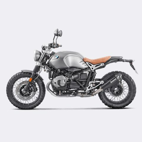 AKRAPOVIC BMW RNINE T SCRAMBLER SLIP-ON BLACK TITAN