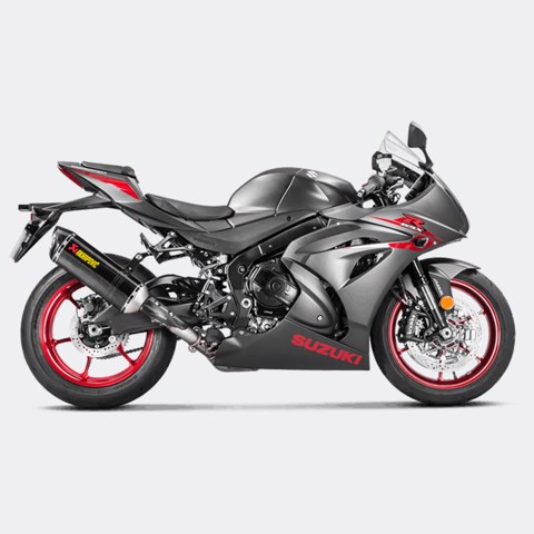 AKRAPOVIC LON PÔ SLIP-ON CARBON SUZUKI GSX-R 1000 2017