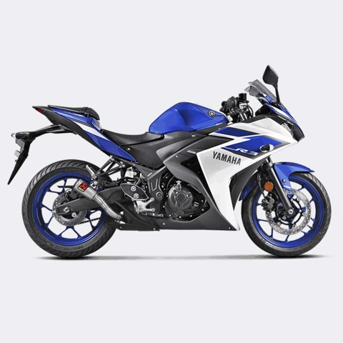 AKRAPOVIC LON PÔ YAMAHA R3 / MT-03 SLIP-ON GP