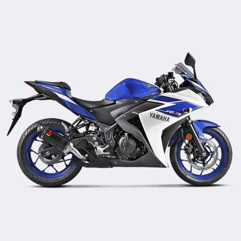 AKRAPOVIC LON PÔ SLIP-ON CARBON YAMAHA R3 / MT-03