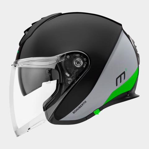 SCHUBERTH NÓN 3/4 M1 GRAVITY GREEN-L