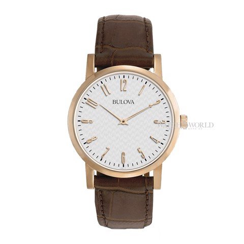 BULOVA Classic Dress Rose Gold 38mm - Mens Watch
