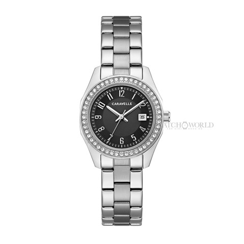 CARAVELLE NEW YORK Swarovski Crystal  28mm - Ladies Watch