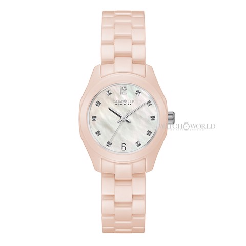 CARAVELLE NEW YORK Swarovski Crystal Ceramic 28 mm - Ladies Watch