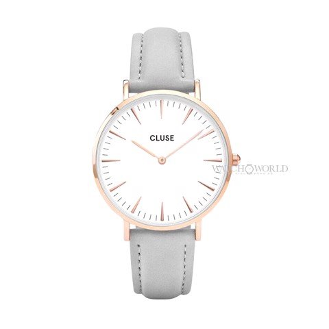 CLUSE La Boheme ROSE GOLD WHITE/GREY 38mm - Ladies Watch (X)