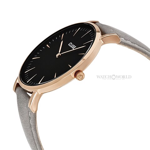 CLUSE La Boheme ROSE GOLD BLACK/GREY 38mm - Ladies Watch (X)