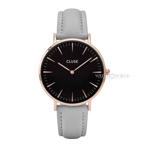 CLUSE La Boheme ROSE GOLD BLACK/GREY 38mm - Ladies Watch