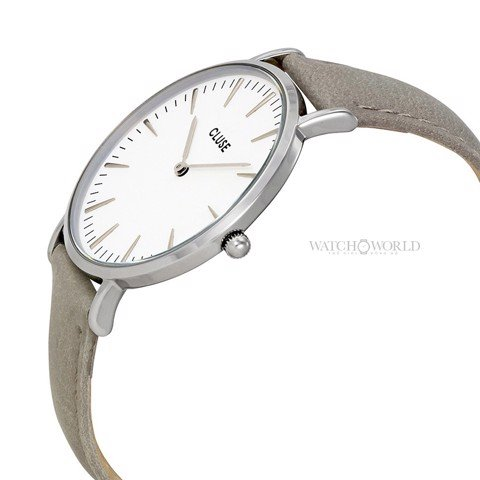 CLUSE La Boheme SILVER WHITE/GREY 38mm - Ladies Watch