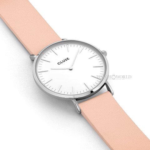 CLUSE La Boheme SILVER WHITE/NUDE 38mm - Ladies Watch