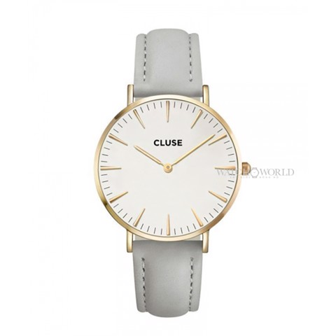 CLUSE La Boheme GOLD WHITE/GREY 38mm - Ladies Watch