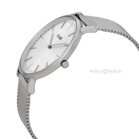 CLUSE La Boheme MESH FULL SILVER 38mm - Ladies Watch