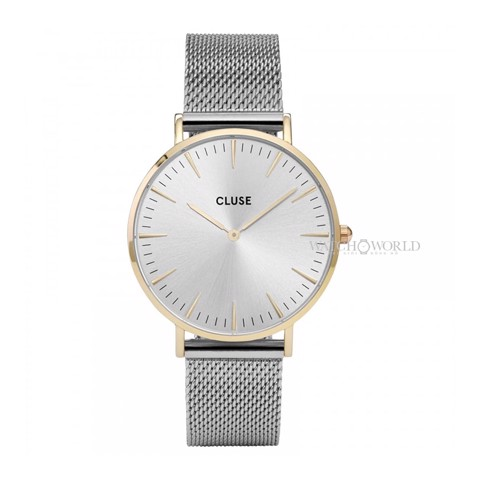 CLUSE La Boheme MESH GOLD/SILVER 38mm - Ladies Watch