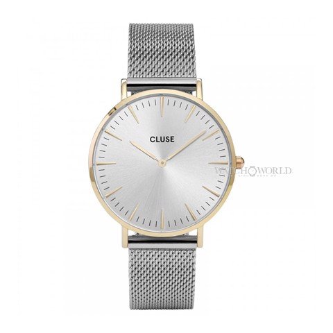 CLUSE La Boheme MESH GOLD/SILVER 38mm - Ladies Watch (X)