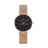 DANIEL WELLINGTON - Classic Petite 32mm Rose Gold Melrose Black - Ladies Watch