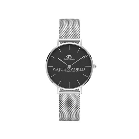 DANIEL WELLINGTON - Classic Petite 32mm Silver Sterling Black - Ladies Watch