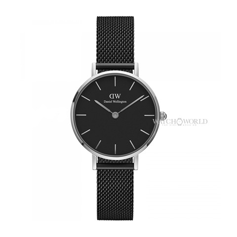 DANIEL WELLINGTON - Petite ASHFIELD Black 28mm Silver - Ladies Watch