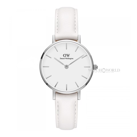 DANIEL WELLINGTON - Petite BONDI White 28mm Silver - Ladies Watch