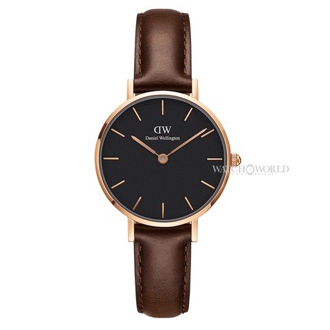 DANIEL WELLINGTON - Petite BRISTOL Black 28mm Rose Gold - Ladies Watch