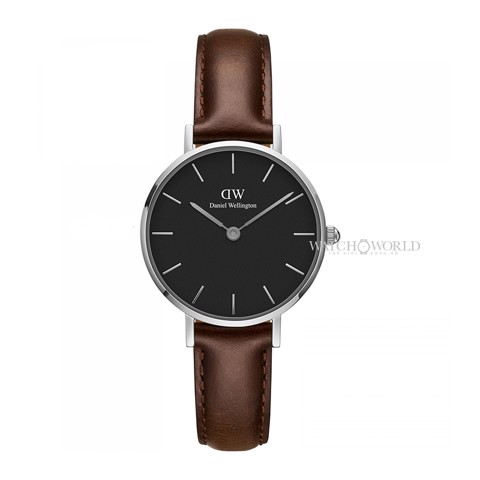 DANIEL WELLINGTON - Petite BRISTOL Black DW00100233 28mm Silver - Ladies Watch