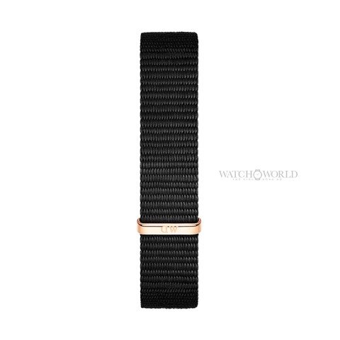 DANIEL WELLINGTON - Petite CORNWALL Black 28mm Rose Gold - Ladies Watch