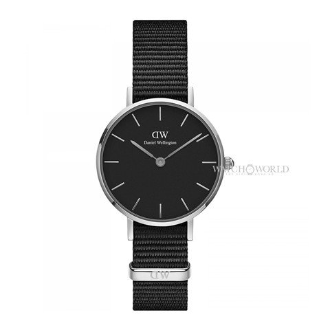 DANIEL WELLINGTON - Petite CORNWALL Black 28mm Silver - Ladies Watch