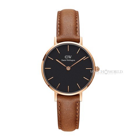 DANIEL WELLINGTON - Petite DURHAM Black 28mm Rose Gold - Ladies Watch
