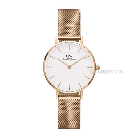 DANIEL WELLINGTON - Petite MELROSE White 28mm Rose Gold - Ladies Watch