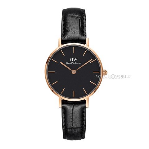 DANIEL WELLINGTON - Petite READING Black 28mm Rose Gold - Ladies Watch
