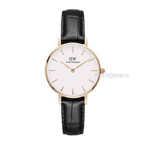 DANIEL WELLINGTON - Petite READING White 28mm Rose Gold - Ladies Watch