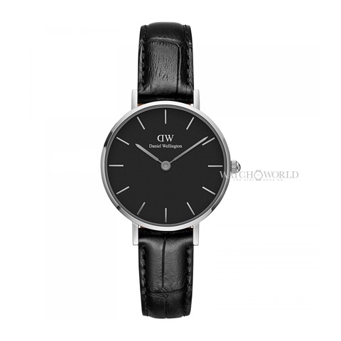 DANIEL WELLINGTON - Petite READING Black DW00100235 28mm Silver - Ladies Watch