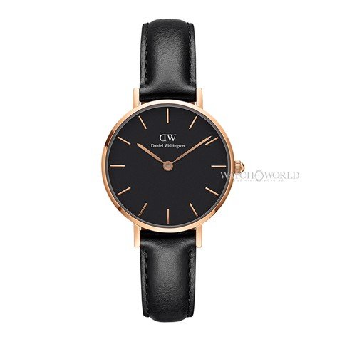 DANIEL WELLINGTON - Petite SHEFFIELD Black 28mm Rose Gold - Ladies Watch