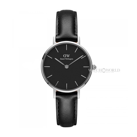 DANIEL WELLINGTON - Petite SHEFFIELD Black 28mm Silver - Ladies Watch