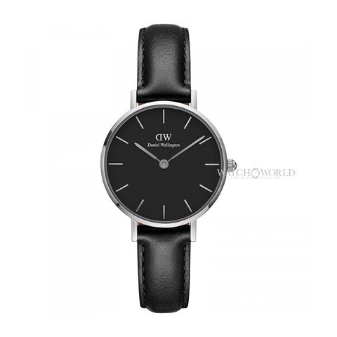 DANIEL WELLINGTON - Petite SHEFFIELD Black DW00100236 28mm Silver - Ladies Watch