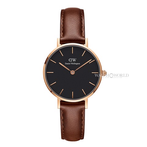 DANIEL WELLINGTON - Petite ST MAWES Black 28mm Rose Gold - Ladies Watch