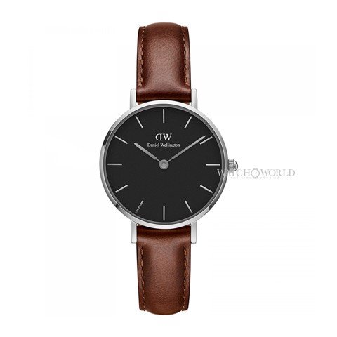 DANIEL WELLINGTON - Petite ST MAWES Black 28mm Silver - Ladies Watch