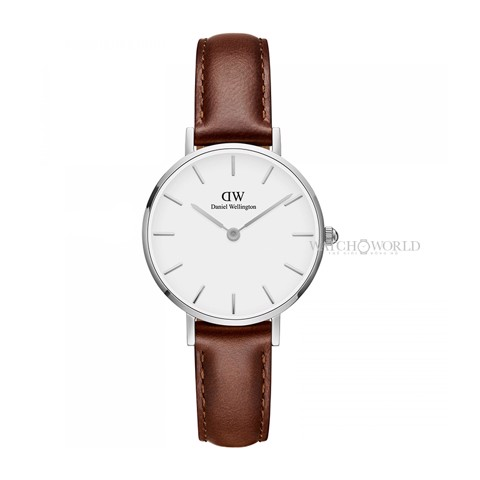 DANIEL WELLINGTON - Petite ST MAWES White DW00100243 28mm Silver - Ladies Watch