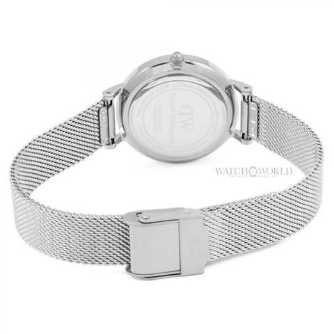 DANIEL WELLINGTON - Petite STERLING Black 28mm Silver - Ladies Watch