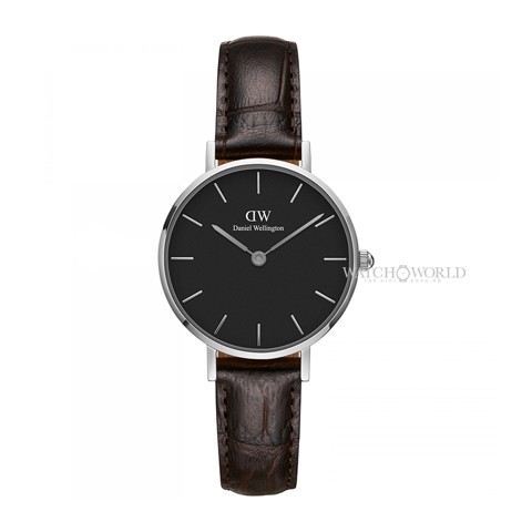 DANIEL WELLINGTON - Petite YORK Black 28mm Silver - Ladies Watch