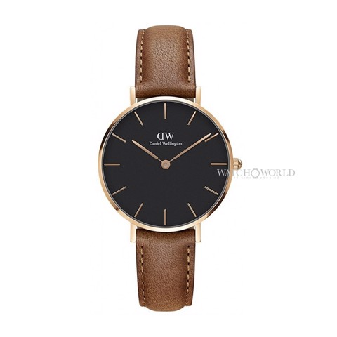 DANIEL WELLINGTON - Petite DURHAM Black 32mm Rose Gold - Ladies Watch