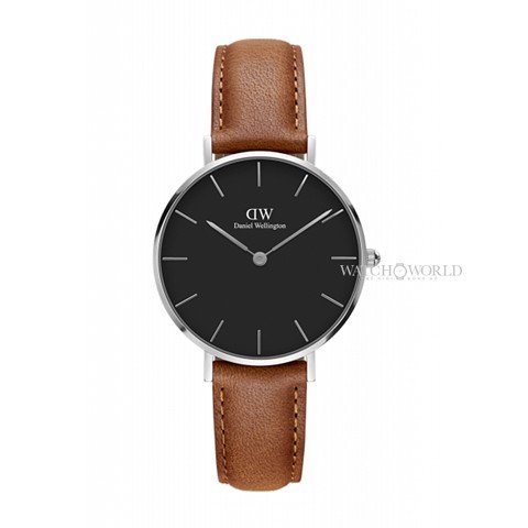 DANIEL WELLINGTON - Petite DURHAM Black DW00100178 32mm Silver - Ladies Watch