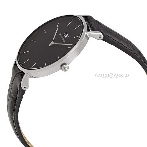 DANIEL WELLINGTON - Petite DURHAM Black DW00100179 32mm Silver - Ladies Watch