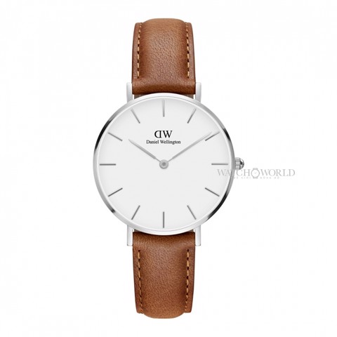 DANIEL WELLINGTON - Petite DURHAM White 32mm Silver - Ladies Watch