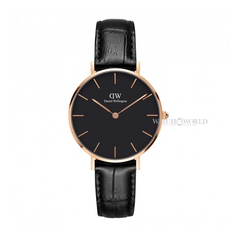 DANIEL WELLINGTON - Petite READING Black 32mm Rose Gold - Ladies Watch